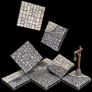 Dungeons & Dragons: Warlock Tiles Town & Village - Town Square ^ APR 7 2021