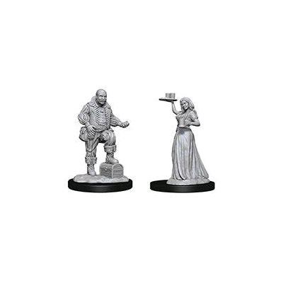 Pathfinder Deep Cuts Unpainted Miniatures: Wave 3: Merchants (Serving Girl / Merchant)