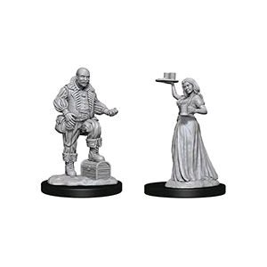 Pathfinder Deep Cuts Unpainted Miniatures: Wave 3: Merchants (Serving Girl / Merchant)