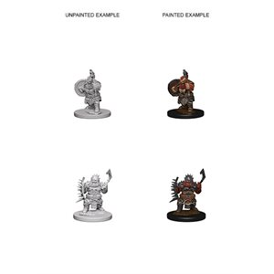 Pathfinder Deep Cuts Unpainted Miniatures: Wave 4: Dwarf Male Barbarian