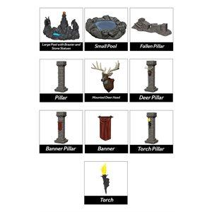 Miniatures: Fantasy Terrain: Painted Pools & Pillars (Set 1)