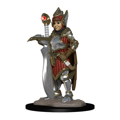 Wardlings RPG figure (Painted): Girl Fighter & Hunting Falcon