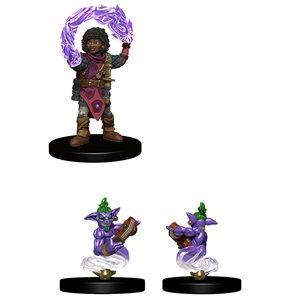 Wardlings RPG figure (Painted): Girl Wizard & Genie