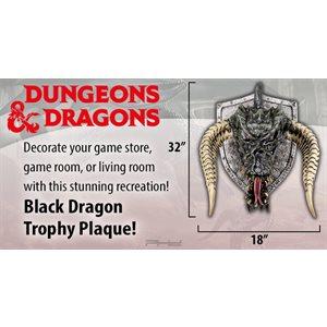 D&D Black Dragon Trophy Plaque