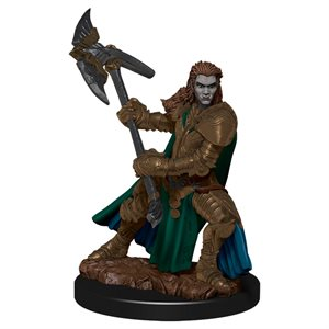 D&D Minis: Icons of the Realms Premium Painted Figures Wave 4: Half-Orc Fighter Female ^ DEC 2020