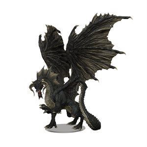 D&D Minis: Icons of the Realms Premium Figure: Adult Black Dragon