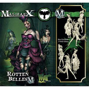 Malifaux 2nd Ed: Resurrectionists: RotTen Thunders: Belles (3) (Updated to M3E)