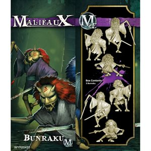 Malifaux 2nd Ed: Neverborn: Bunraku (3) (Updated to M3E)