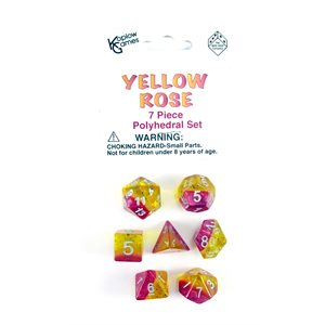 Opaque: 7Pc Polyhedral Yellow Rose