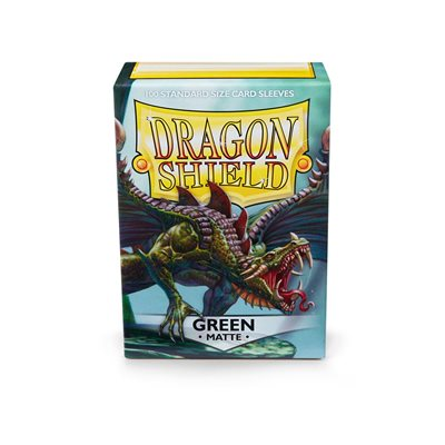 Sleeves: Dragon Shield Matte Green (100)
