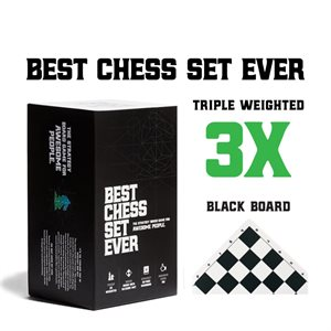 Best Chess Set Ever (Black No Googly Eyes) (No Amazon Sales)