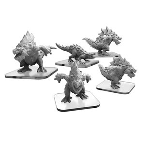 Monsterpocalypse: Protector Terrasaur: Carnidon & Spikodon (metal / resin)