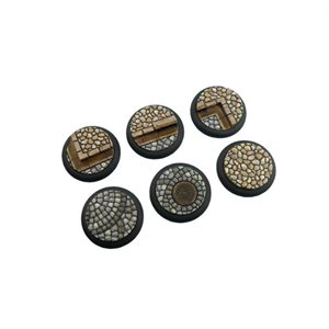 Bases: Cobblestone, Round Lipped 40mm (2)