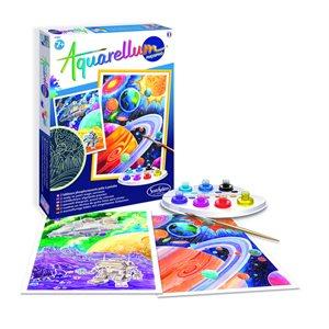 Aquarellum: Magic Canvas Glow in Dark Cosmos (Multi) (No Amazon Sales)