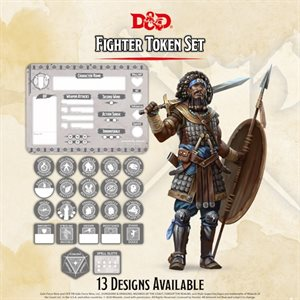 Dungeons & Dragons: Fighter Token Set (Player Board & 22 tokens) ^ Q4 2020