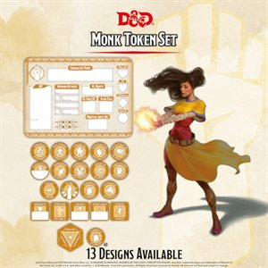 Dungeons & Dragons: Monk Token Set (Player Board & 22 tokens) ^ Q4 2020