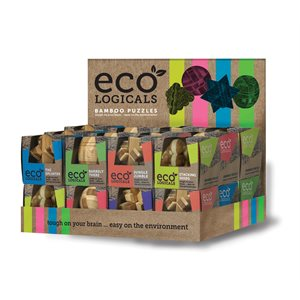 Eco Logicals: 24pc Bamboo Puzzle Display