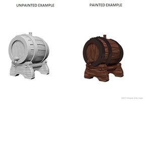 WizKids Deep Cuts Unpainted Miniatures Terrain: Wave 2: Keg Barrels