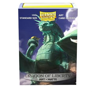 Sleeves: Dragon Shield Limited Edition Matte Art: Dragon of Liberty (100) ^ MAR 27 2020