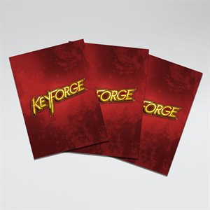 Sleeves: Keyforge Logo: Matte Red (40)