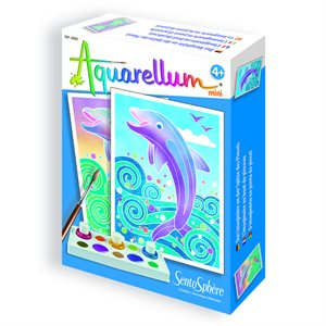 Aquarellum: Magic Canvas Mini Dolphins (Multi) (No Amazon Sales)